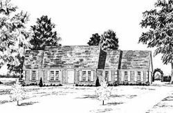 New-England-Colonial Style Home Design Plan: 18-380