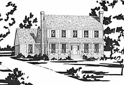 Early-american Style Home Design Plan: 18-382