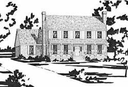 Early-American Style Floor Plans Plan: 18-382