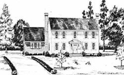 Early-American Style Home Design Plan: 18-383