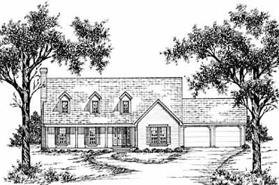 Cape-cod Style Floor Plans 18-384