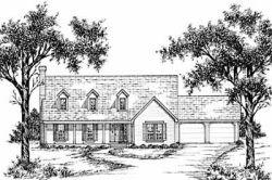 Cape-Cod Style Home Design Plan: 18-384