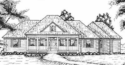 Country Style Home Design Plan: 18-385