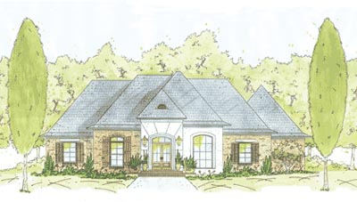 French-country Style House Plans Plan: 18-389