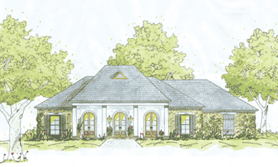 French-country Style House Plans Plan: 18-390