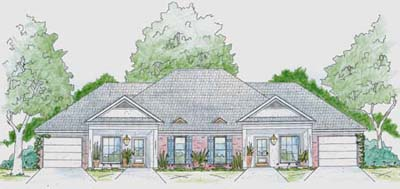 French-country Style Floor Plans Plan: 18-391