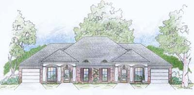 French-country Style House Plans Plan: 18-392