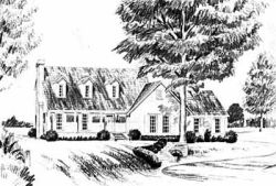 New-England-Colonial Style House Plans Plan: 18-395