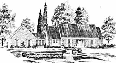 New-england-colonial Style Home Design Plan: 18-396