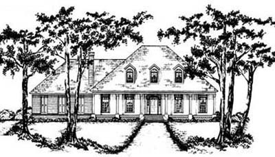 French-country Style Floor Plans Plan: 18-398
