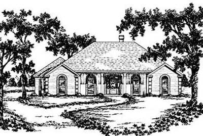 Country Style Floor Plans Plan: 18-399