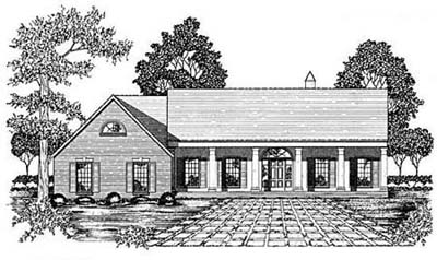 Southern Style Floor Plans Plan: 18-400