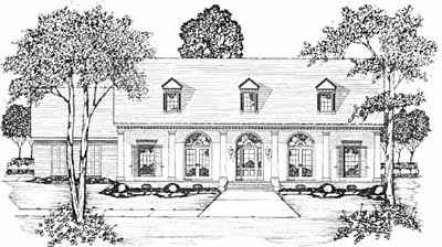 Country Style Home Design Plan: 18-402