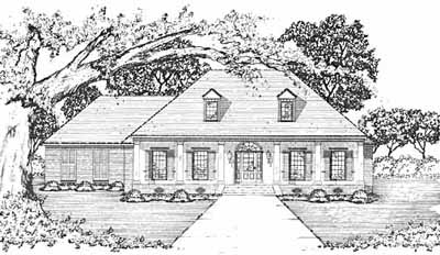 Country Style Home Design Plan: 18-403