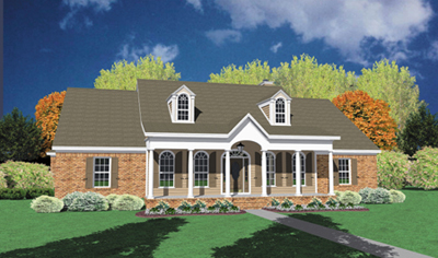 Southern Style Floor Plans Plan: 18-407