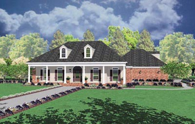 Southern Style Home Design Plan: 18-408