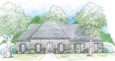 French-country Style House Plans Plan: 18-409