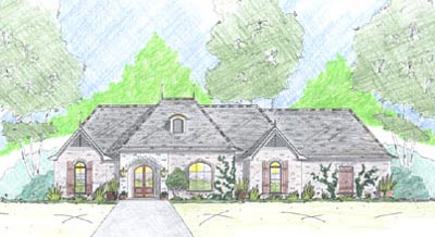French-country Style House Plans Plan: 18-410