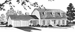 Early-American Style Floor Plans Plan: 18-412