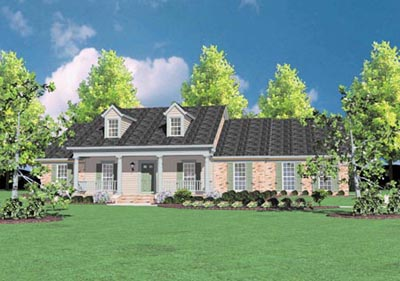 Country Style Home Design Plan: 18-416