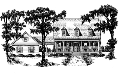 Country Style Floor Plans Plan: 18-417