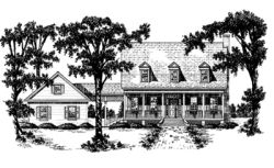 Country Style Home Design Plan: 18-417