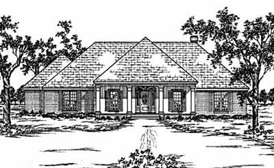 French-country Style House Plans Plan: 18-418