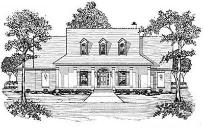 New-england-colonial Style Floor Plans Plan: 18-420