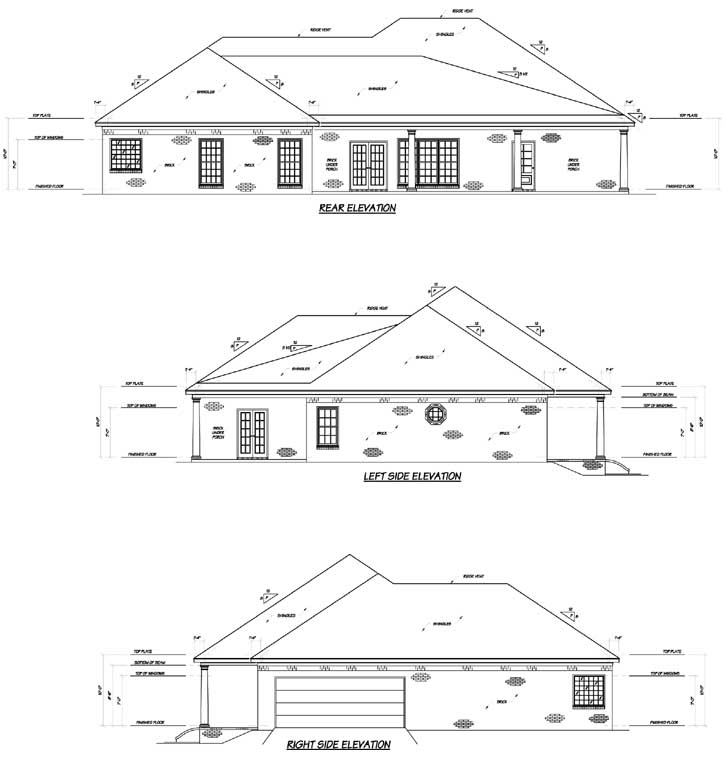Rear Elevation Plan: 18-425