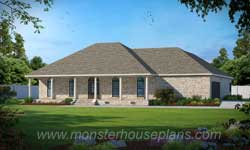 French-Country Style Home Design Plan: 18-425