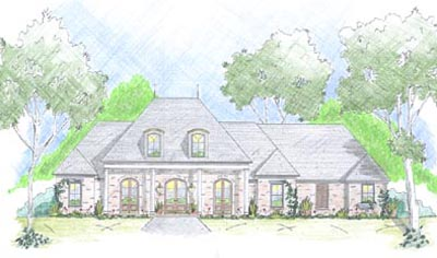 French-country Style Floor Plans 18-426