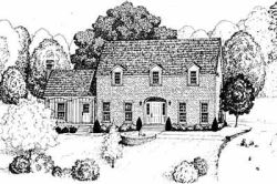 Early-American Style Floor Plans Plan: 18-427