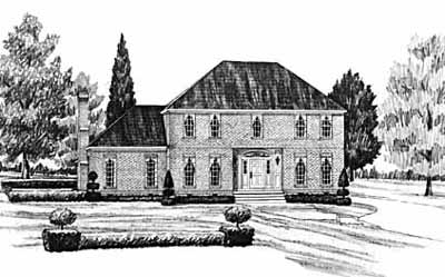 Early-american Style House Plans Plan: 18-428