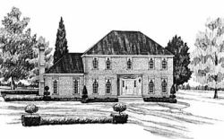 Early-American Style Floor Plans Plan: 18-428
