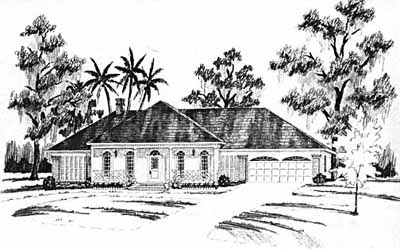 Ranch Style Home Design Plan: 18-429