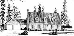 New-England-Colonial Style Home Design Plan: 18-431