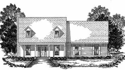 New-england-colonial Style Home Design Plan: 18-432