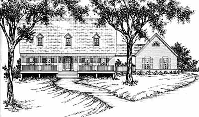 New-england-colonial Style Floor Plans Plan: 18-433