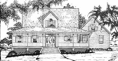 Country Style House Plans Plan: 18-434