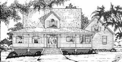 Country Style Home Design Plan: 18-434