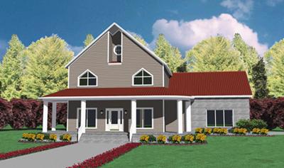Contemporary Style Home Design Plan: 18-435