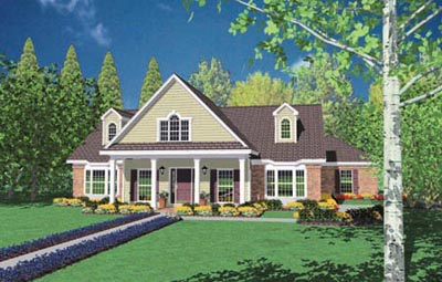 Country Style Floor Plans Plan: 18-436