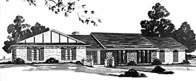 Contemporary Style Home Design Plan: 18-437