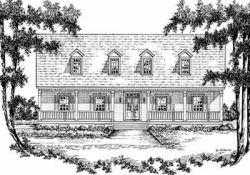 Country Style Home Design Plan: 18-441