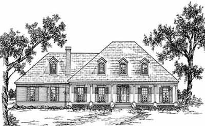 French-country Style House Plans Plan: 18-442