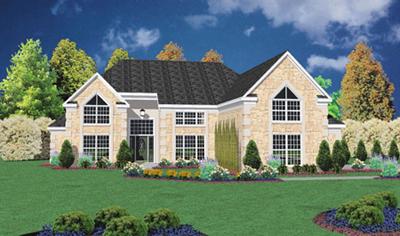 Contemporary Style Home Design Plan: 18-443
