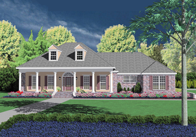 Southern Style Floor Plans Plan: 18-444