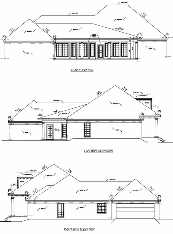 Rear Elevation Plan: 18-444