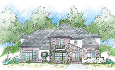 French-country Style Floor Plans Plan: 18-445