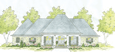 French-country Style Floor Plans Plan: 18-446